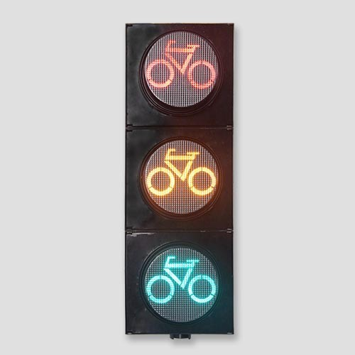 200mm ITE High Flux 3 Sections Traffic Signals