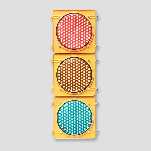 Dot matrix 300mm vehicle traffic light