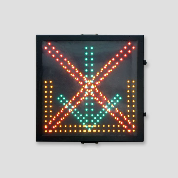 600x600 mm Red Cross Green Arrow Driveway Indicator Signal Light