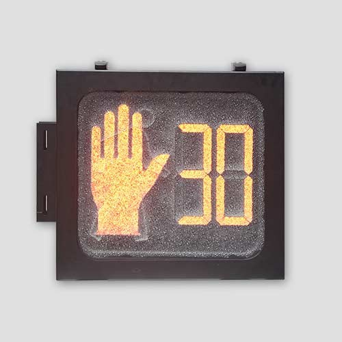 Aluminium Housing 16*18 Led Pedestrian Hand Traffic Signal With Countdown Timer