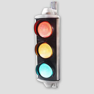 100mm Aluminum 3 Aspects Traffic Signal Head