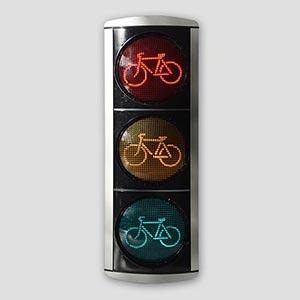 "8"" Aluminum Bicycle Traffic Signal Head"