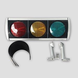 Aluminum Pedestrian Traffic Light  with Led Optics Ø200