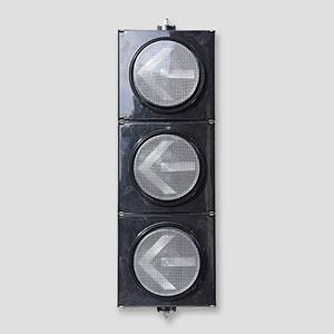 PC Black 3 Aspect Arrow Led Traffic Signal Light