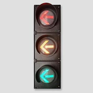 100mm 3 Aspects Red Yellow Green Arrow Traffic Light