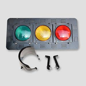 300 mm Curve Lens led traffic signal lights With Back Board