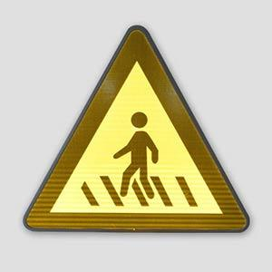 Solar Warning Reflective Dangerous Bend Direction Sign