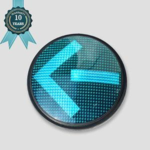 200mm Left Arrow LED Traffic Signal Light 10 Year Warranty