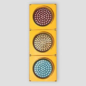 200mm 3-Way Pixel Look LED Traffic Light