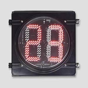 300mm Red Green 2 Digital Countdown Timer Traffic Signals