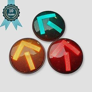 10 Year Warranty Red Yellow Green Arrow LED Traffic Signal Light Manufacturer