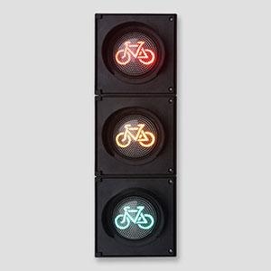 100mm 3 Aspects Red Yellow Green Bicycle Traffic Light
