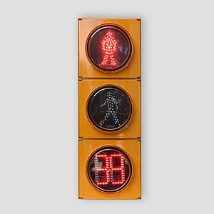 200mm Running Man Pedestrian Traffic Light with countdown