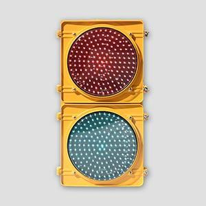 300mm Red Green Transparent Lens LED Traffic Light