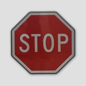 Reflective Stop Illuminated Warning Traffic Sign